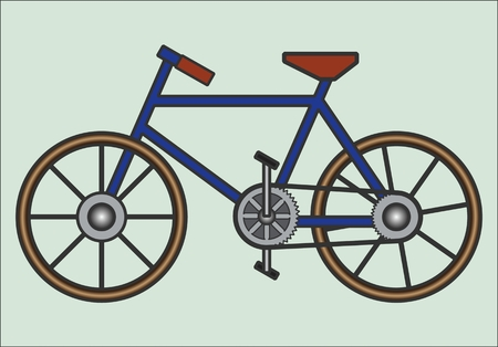 road bike: BICYCLE PATTERN color vectorial image of two-wheeled road bike.