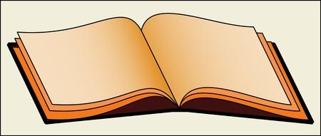 PATROON BOEKEN kleur vector afbeelding van een open hardcover boek.
