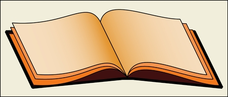 BOOK PATTERN color vector image of an open hardback book.