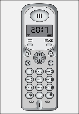 TELEPHONE LANDLINE SAMPLE black and white image of the device for transmitting and receiving sound at a distance