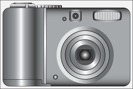 オブジェクトを撮影するためのデジタルデバイスのカメラデバイス白黒画像  イラスト・ベクター素材