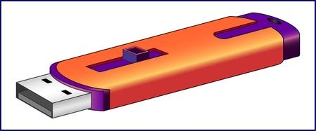 USB フラッシュ ドライブ サンプル メディアとして使用し、コンピュータまたはその他のリーダーに接続されているメモリ デバイス