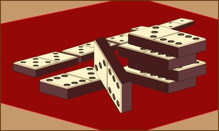 BORDSPEL kleurenafbeelding van dobbelstenen voor een domino-bordspel