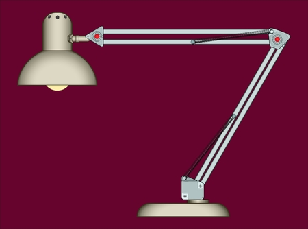 Reading-lamp sample electric lamp for illumination of table. Illustration