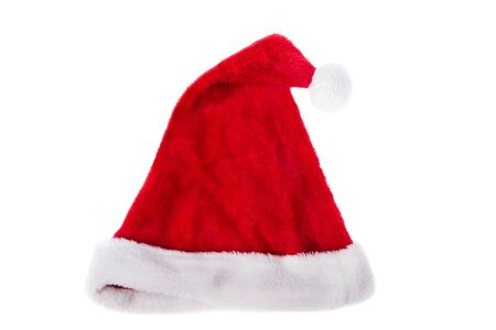 Santa Claus red hat isolated on white background. Merry Christmas, happy New Year Stockfoto