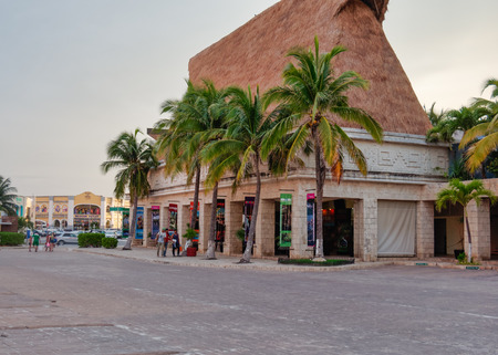 Building of the Xcaret Reservation Center, Kukulcan Boulevard, Zona Hotelera, Cancn, Mexico, in September 8, 2018