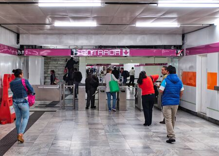 Entrance to metro of Mexico City 新闻类图片