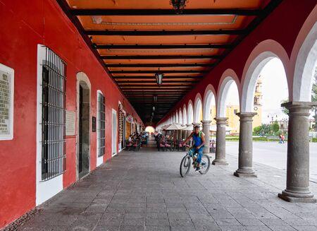Porch of San Pedro cholula town hall 新闻类图片