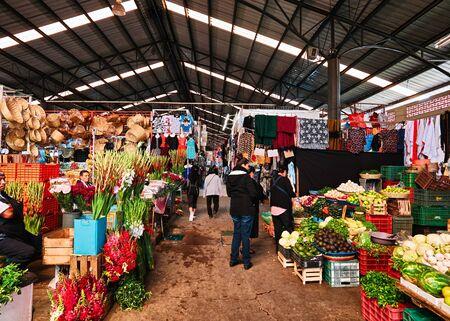 Interior view of San pedro Cholula municipal market