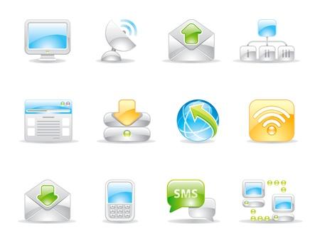 network server: communication shiny icons
