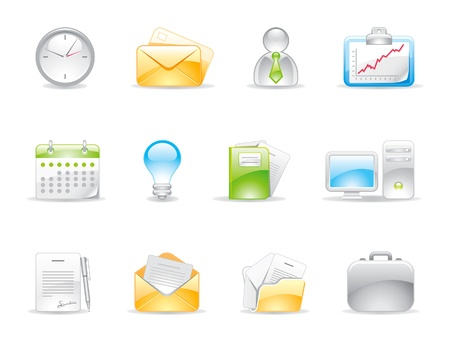 signing papers: office icons