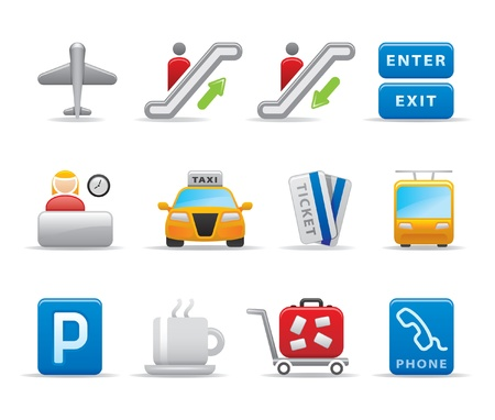 cars parking: airport icons Illustration