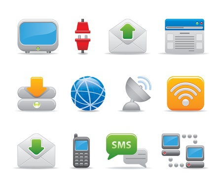cable de red: los iconos de la comunicaci�n