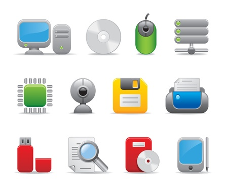 computer icons Stock Vector - 11206166