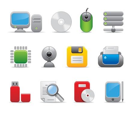 los iconos de ordenador