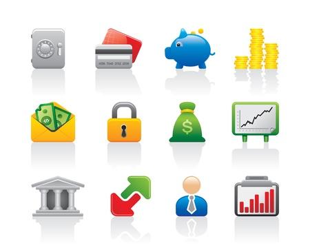 cajas fuertes: los iconos de dinero