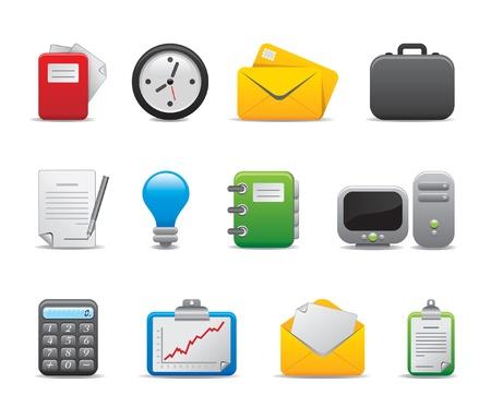 directorio telefonico: los iconos de la oficina - parte II Vectores