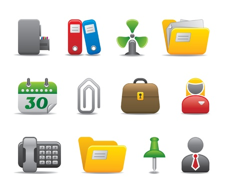 bussiness man: office icons - part II