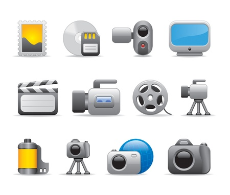 photo and video icons Stock Vector - 11206281