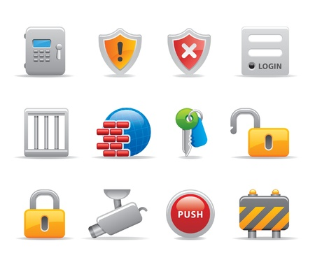 safe lock: security icons