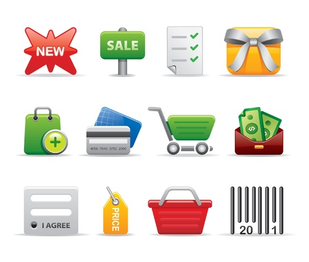 shopping list: shopping icons