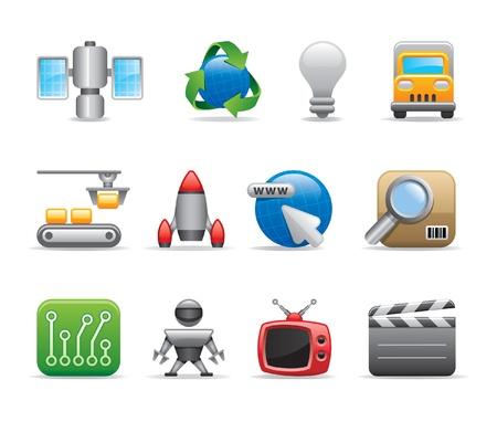 link work: technology icons Illustration