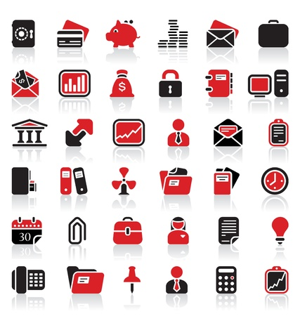 36 business icons Stock Vector - 11206277