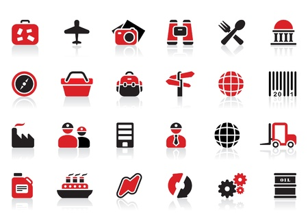 24 tourism and industry icons Vector