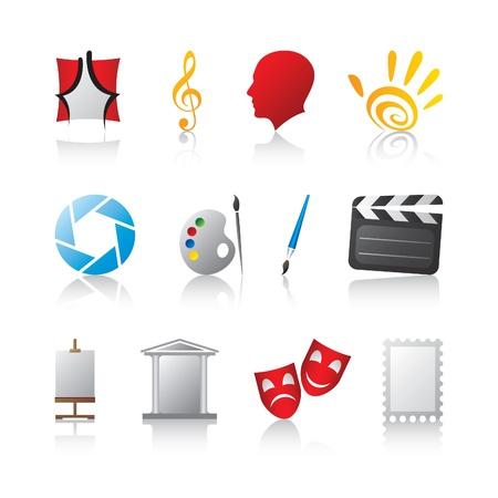 manos logo: iconos del arte