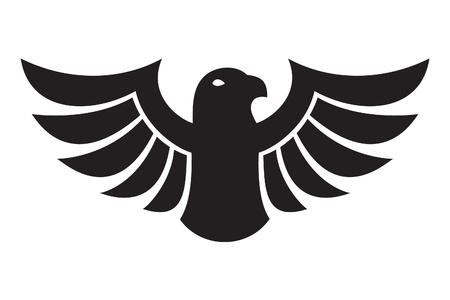 adler silhouette: Black Eagle Illustration