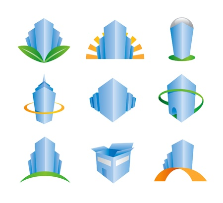building icons - logos Vector