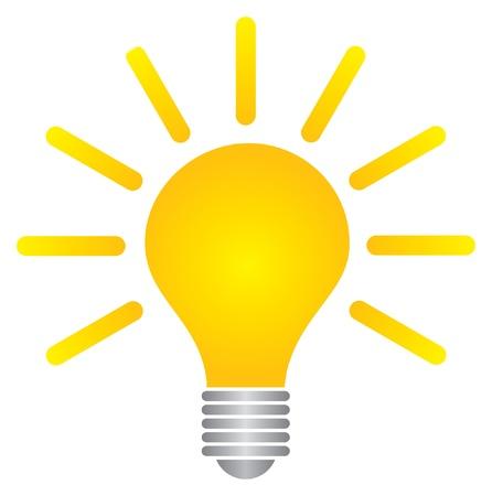 lightbulb idea: lampadina Vettoriali