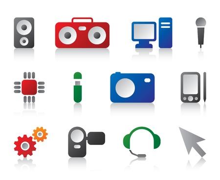 music loudspeaker: multimedia icons Illustration