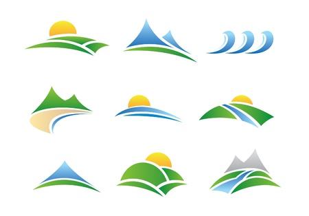 horizonte: iconos de la naturaleza