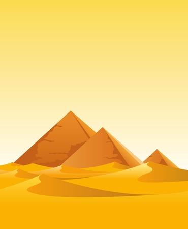 pyramide egypte: des pyramides dans le d�sert