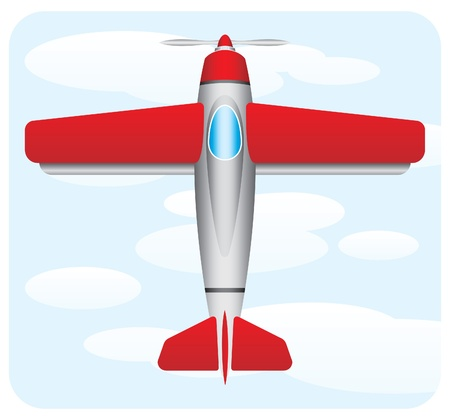 midair: red airplane
