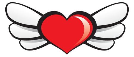 Winged Heart Stock Vector - 11545663