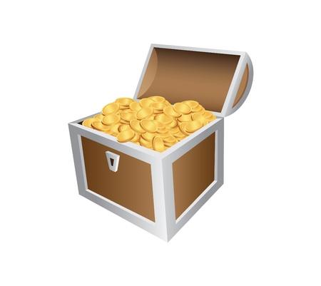 treasure chest: Treasure Chute Illustration