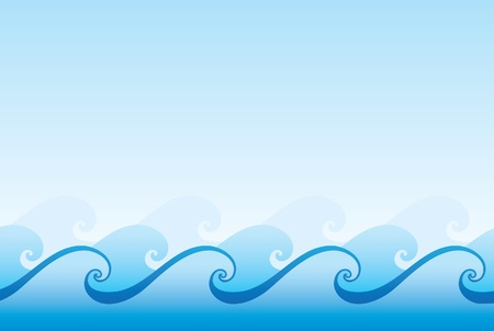 sea waves: wave