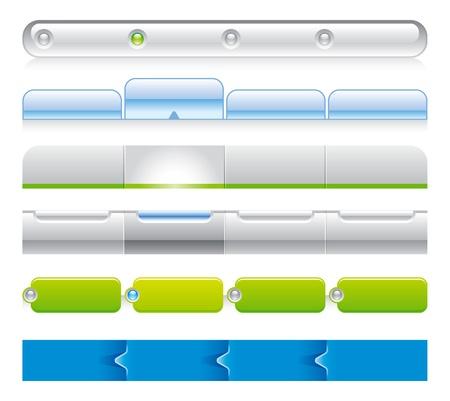 siti web: Web template di navigazione 03 Vettoriali