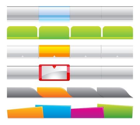 webnavigatie templates 01 Vector Illustratie