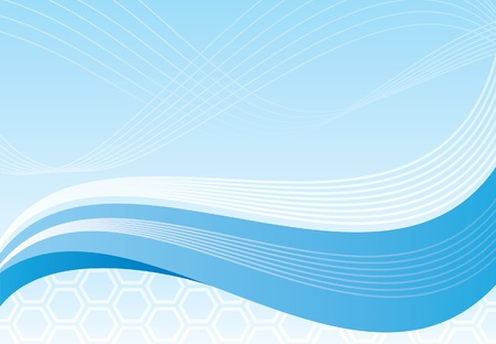 swoosh: Blue background Illustration