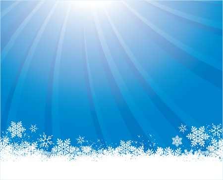 blue winter Stock Vector - 11332165