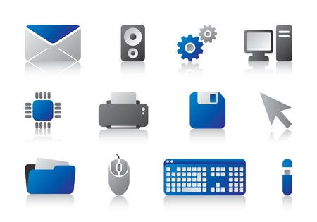 computer icons Stock Vector - 11332161