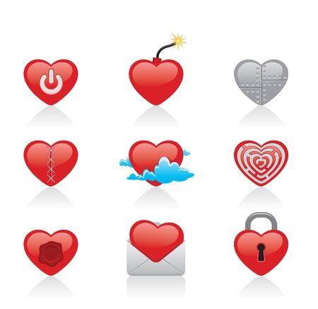 cut heart  Stock Vector - 11545745