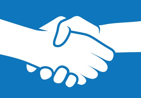 左手で握手