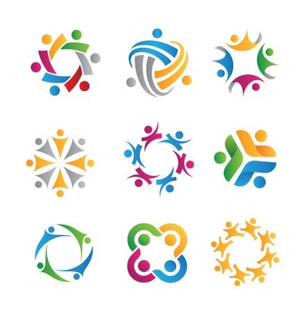 Sozialen Symbole Standard-Bild - 20370626