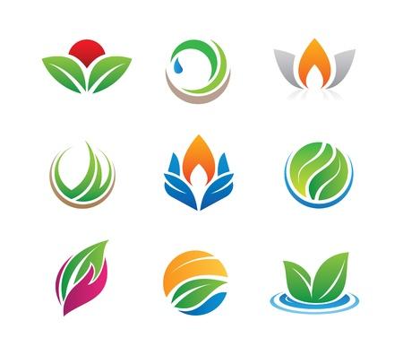 naturaleza: iconos de la naturaleza y logotipos