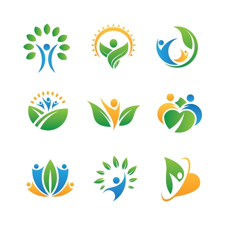mensen iconen en logo's