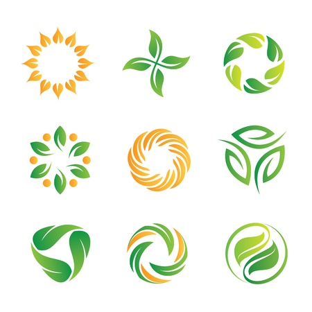 Nature loop and icons template Stock Vector - 20370660